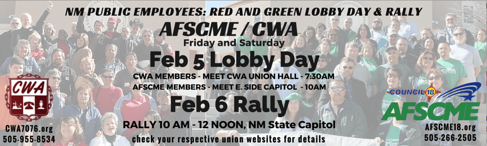 Red and Green Lobby Day and Rally!