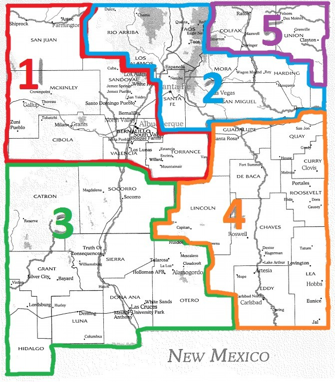 New Mexico Region Map Communications Workers Of America